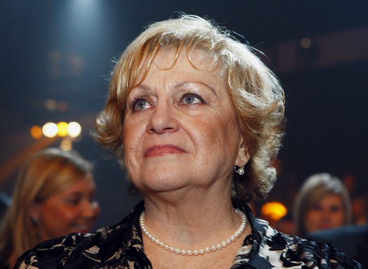 Vìra Èáslavská na slavnostním vyhlášení výsledkù ankety Sportovec roku 22. prosince 2009 v pražském Hotelu Hilton.